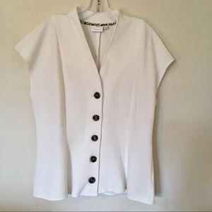 ❤️ Anthropologie NWT White Vest